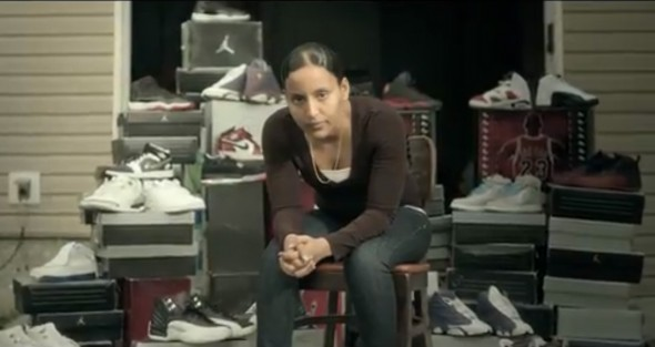 Macklemore Wing$ video NBA shoes promotional - nike boxes