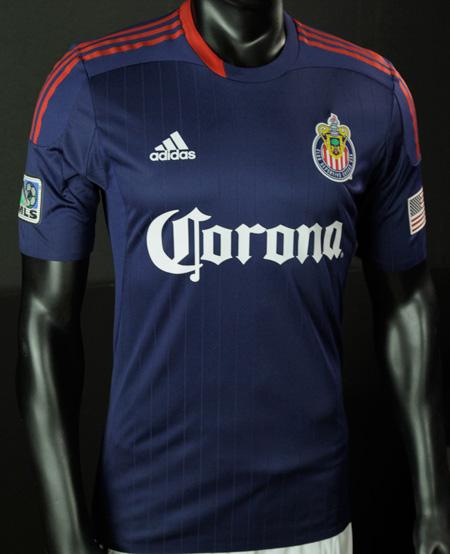 front - chivas USA jersey week reveal week MLS soccer new uniform jersey