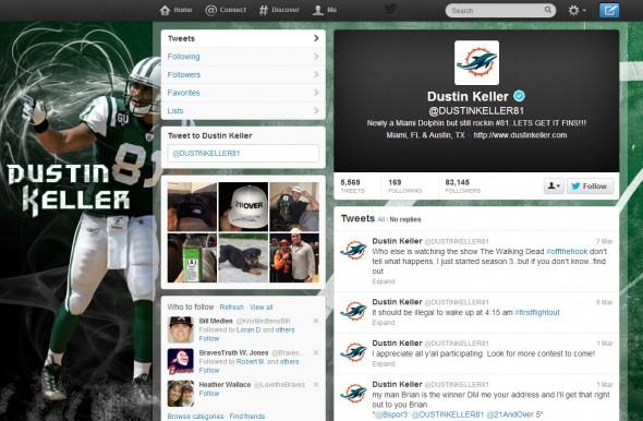 Dustin Keller - Miami Dolphins New Logo