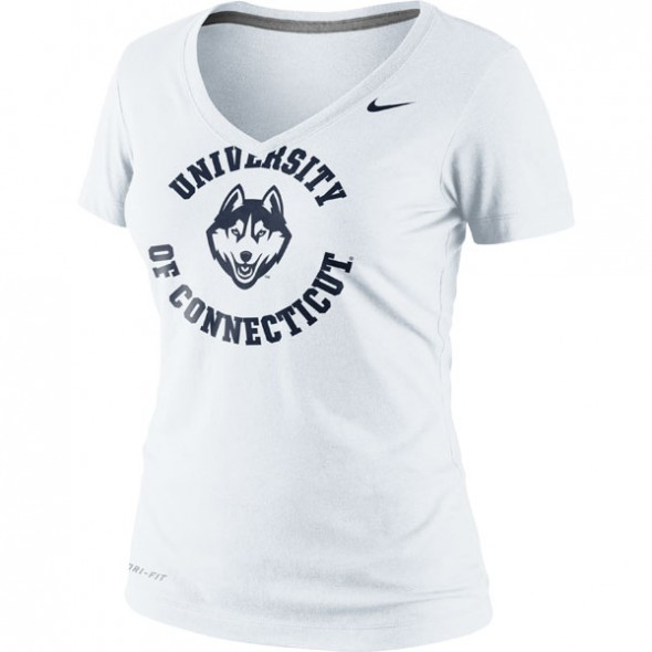 white T - UConn connecticut huskies jonathan husky new logo new uniforms