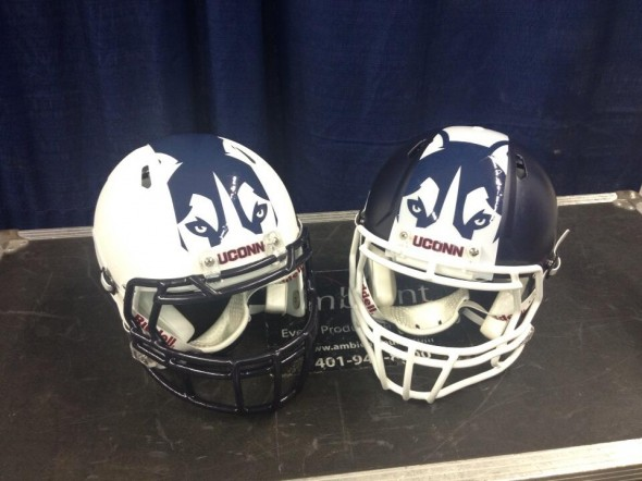 helmets both - UConn University of Connecticut new logo uniforms