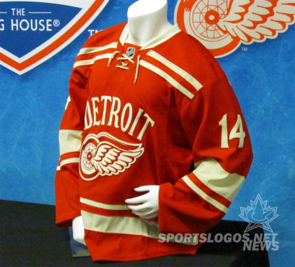 Detroit Red Wings 2014 NHL Winter Classic Jersey (Photo: Clark Rasmussen/SportsLogos.Net)