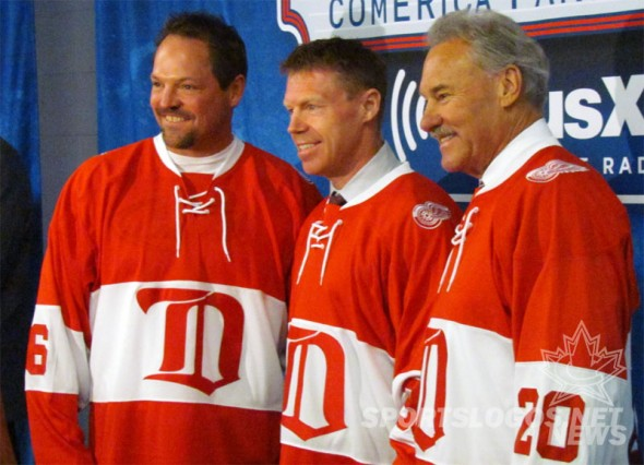 Detroit Red Wings 2014 Alumni Jersey (Photo: Clark Rasmussen/SportsLogos.Net)