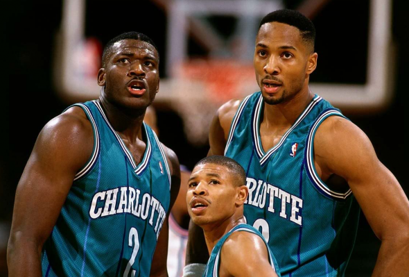 Larry Johnson, Muggsy Bogus, Alonzo Mourning