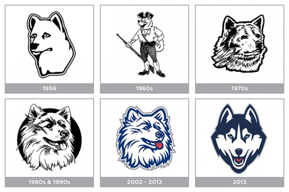 timeline - UConn connecticut huskies jonathan husky new logo new uniforms