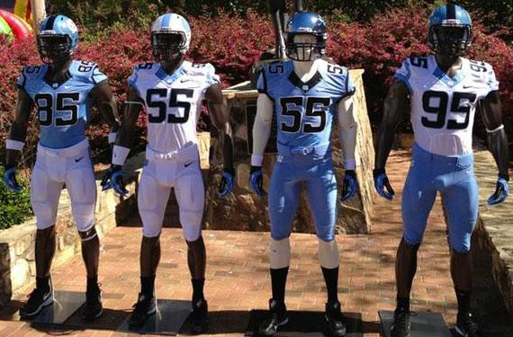 29f9270b35f The University of North Carolina Tar Heels are set to unveil their new  football uniforms ...