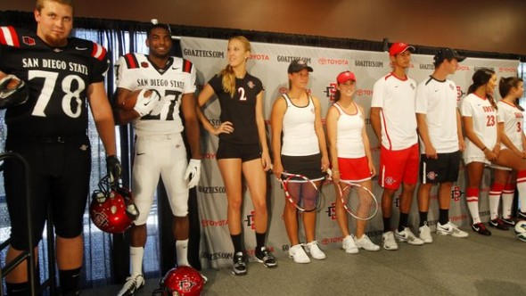 several sports - SDSU New Logo New Uniforms San Diego State Aztecs