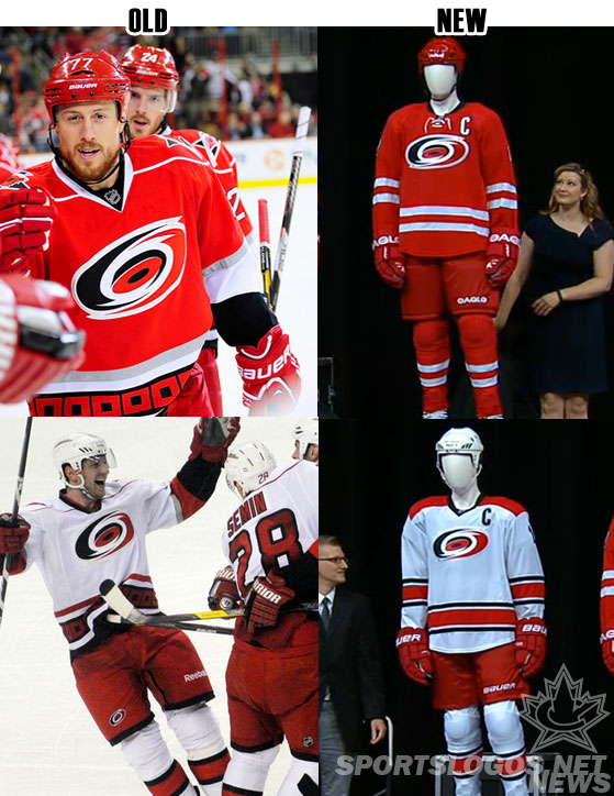 Comparing the old and new Carolina Hurricanes uniforms 5d561e2041f