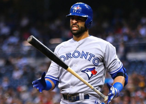 Jose Bautista, Toronto Blue Jays 2013 Road Grey Jersey