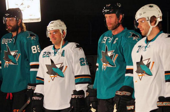 reputable site f02da e5c5b San Jose Sharks Unveil Minor Changes to Uniforms | Chris ...