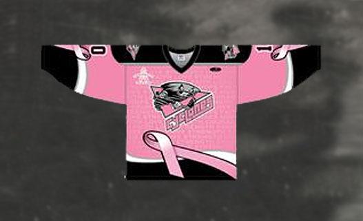 Cincinnati Cyclones Pink Jersey 2013-14