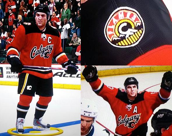 Flames Third Jersey NHL14 Leak