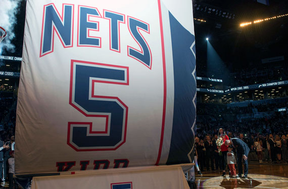 Brooklyn Nets Retire Jersey of Jason Kidd  7f899e3a1