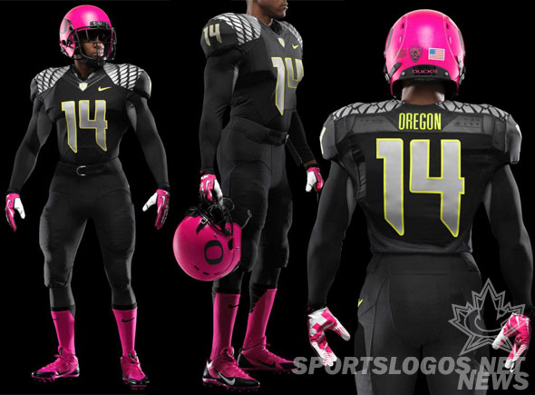 reputable site 01342 cb278 Oregon Ducks to Wear Pink Helmets on Saturday   Chris ...