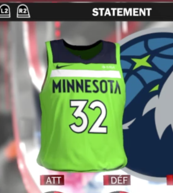 Leaked Statement Jerseys From 2k18 Timberwolves