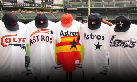Houston Astros uniforms of yesteryear (1962-1999)