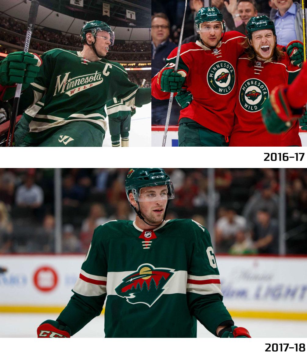 new style 62eba d46b4 Minnesota Wild Uniform Compare | Chris Creamer's SportsLogos ...
