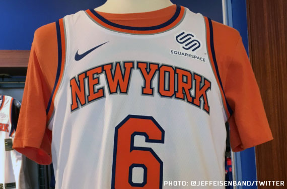 sports shoes cd6e5 a656f New York Knicks Add Advertiser Patch to Jersey | Chris ...