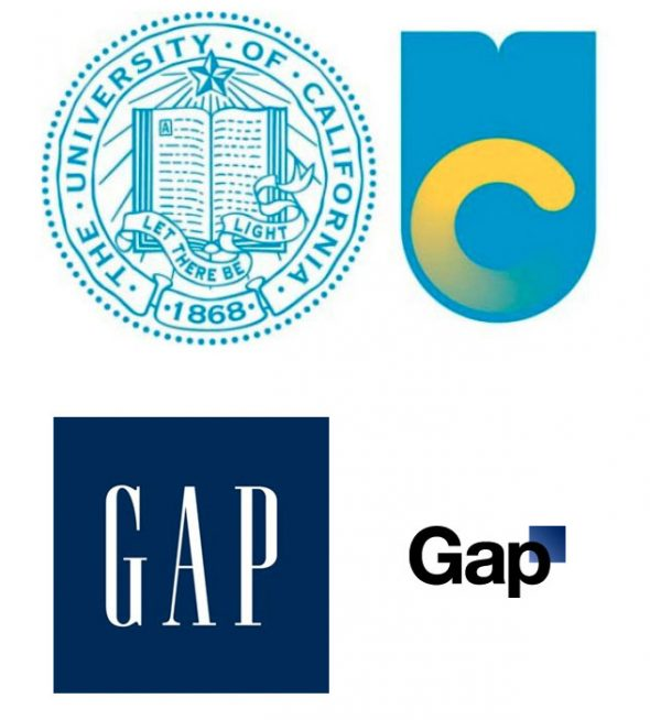 University of California and the Gap both took major backlash with their logo redesigns
