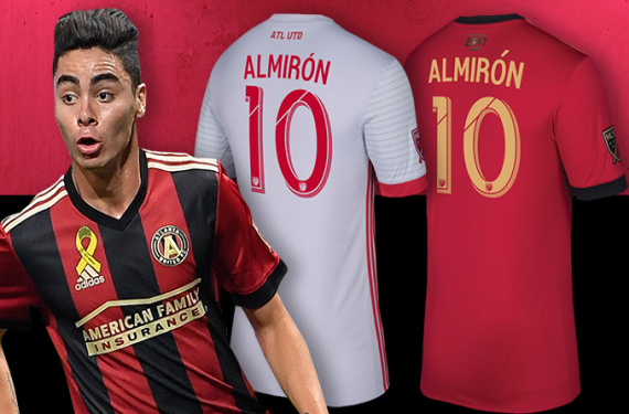 save off 45fb8 1e54b Miguel Almiron leads Major League Soccer in jersey sales for ...