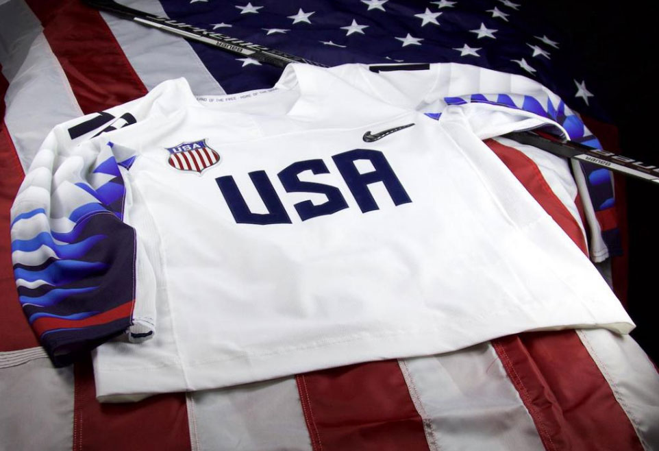 The American side provided an explanation for theirs calling the sleeve  design inspired by the wings of a bald eagle despite it (at least appearing  to be) ... a8dc5db7c25