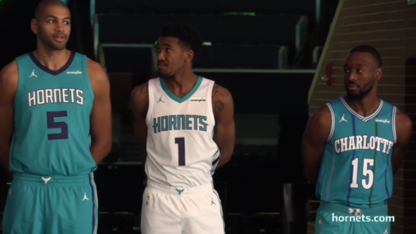 It s also interesting to note that they had Kemba Walker wearing the  throwback uniform in one of the videos unveiling the partnership 36aa1450b