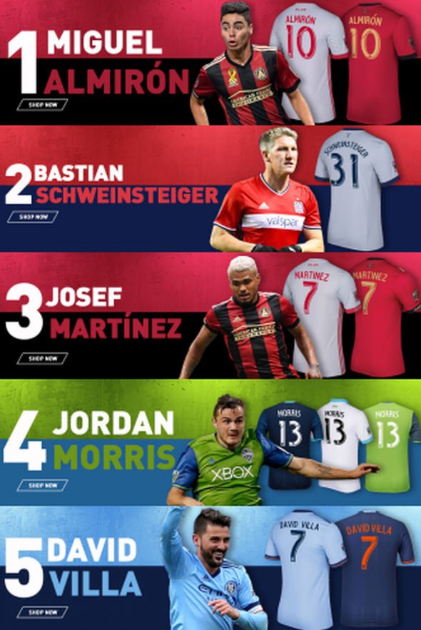 save off f148e 438a3 Miguel Almiron leads Major League Soccer in jersey sales for ...