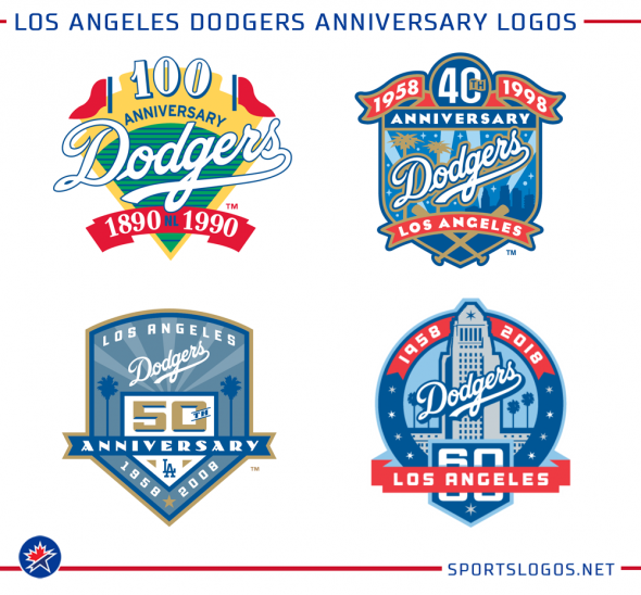 Los Angeles Dodgers Unveil 60th Anniversary Logo f1bdf53fada