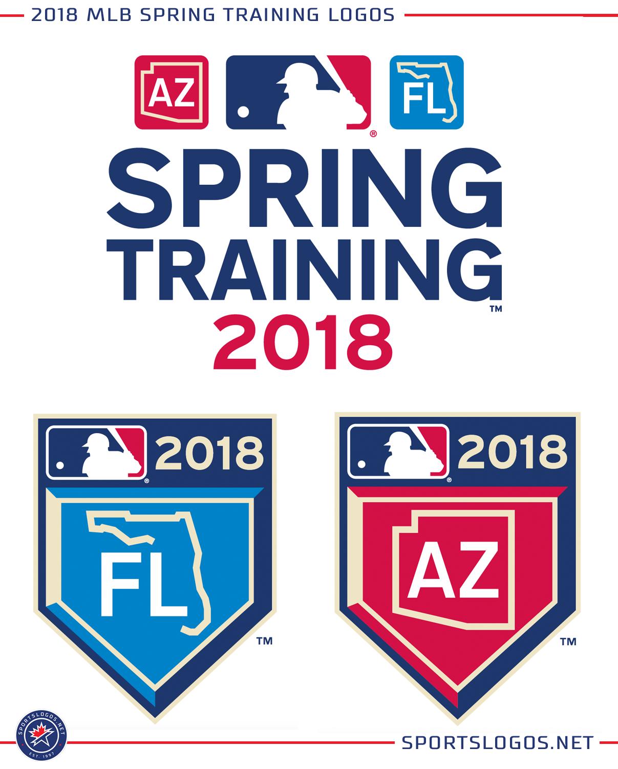 2018 mlb spring training logos chris creamers