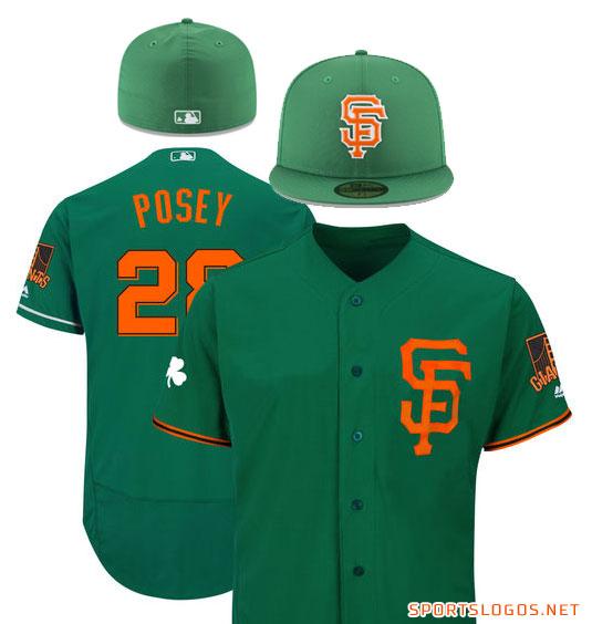 3d5abff9e1a 2018 San Francisco Giants St Patricks Day Uniform