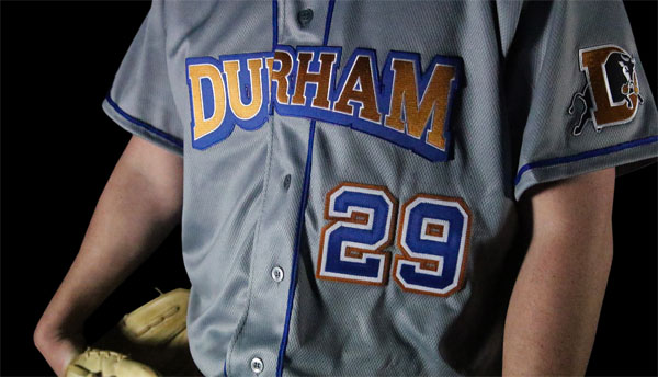 005014308 The Bulls  announcement included three uniform sets. In addition to  alternate uniforms featuring the Bull City logo