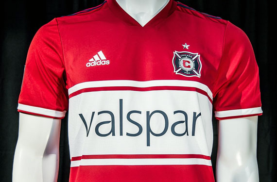 bcc7bc0b2 The Chicago Fire are the latest MLS club to unveil their new uniforms this  week