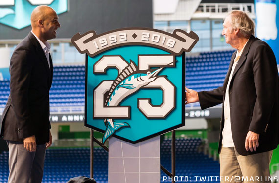 04fa6ddd882 The logo will be worn as a sleeve patch on each of the Marlins jerseys  during the upcoming 2018 regular season.