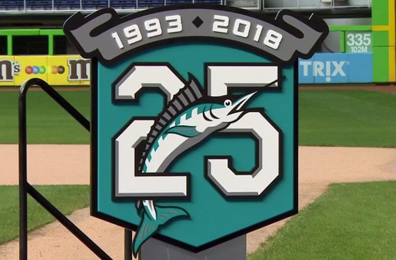 premium selection 4e8ff 41df1 Marlins Bring Back Teal to Celebrate 25 Years in 2018 ...