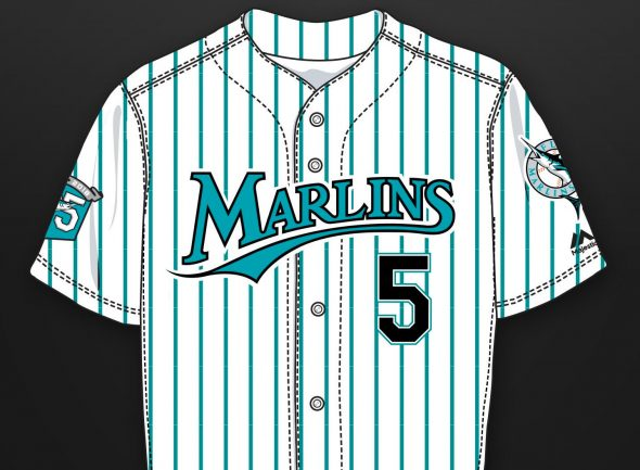 separation shoes ab4e0 7b452 florida marlins throwback jersey