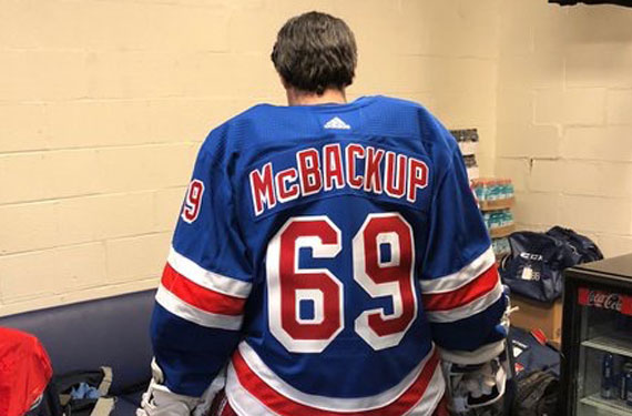 Nice Rangers Backup Goalie Wears 69 Mcbackup Jersey Chris