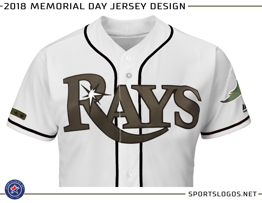 lowest price ffeab a60c0 2018 MLB Memorial Day Jersey Design Tampa Bay Rays | Chris ...