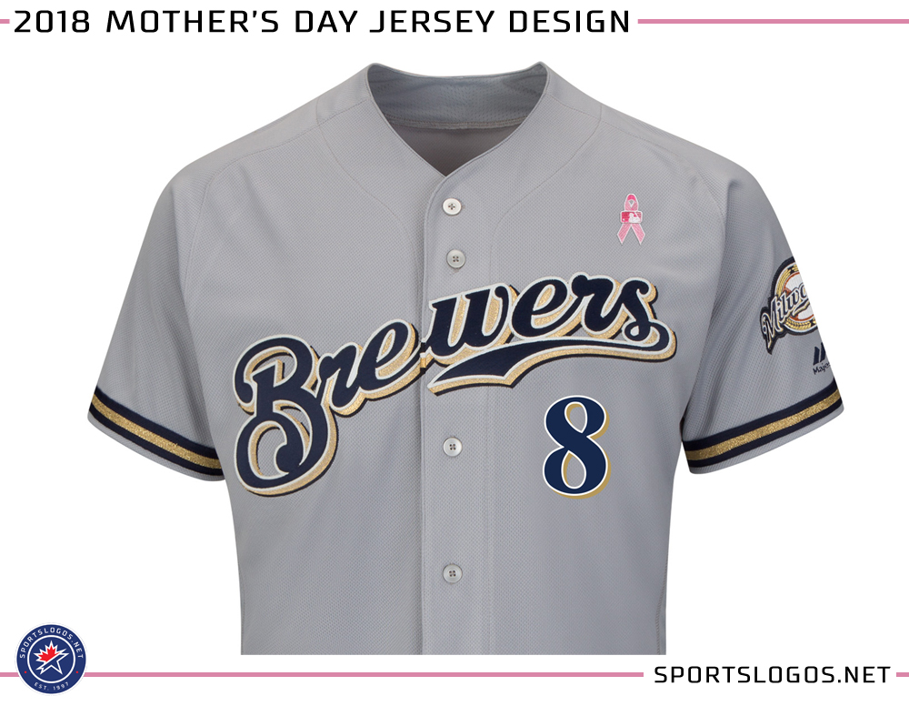 official photos b828a 94a28 2018 MLB Mothers Day Jersey Design Milwaukee Brewers | Chris ...