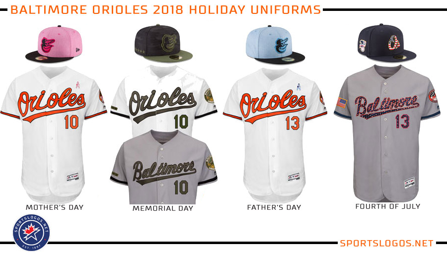 31ea5335873 Baltimore Orioles 2018 Holiday Uniforms