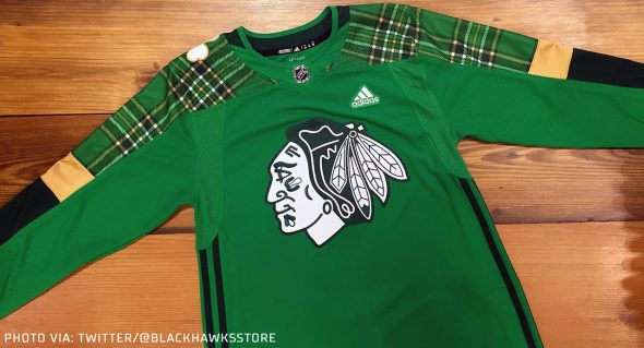 89984b4bf Because the NHL doesn't play everyday many teams have already worn their St.  Patrick's Day pre-game jerseys, so we have some photos of them on the ice: