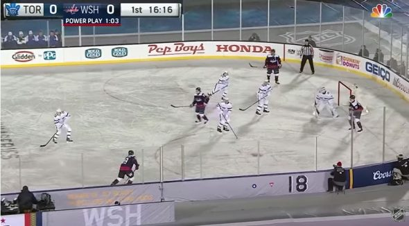 65f4bbc36 All white uniforms on an all-white sheet of ice proved tricky for TV viewers