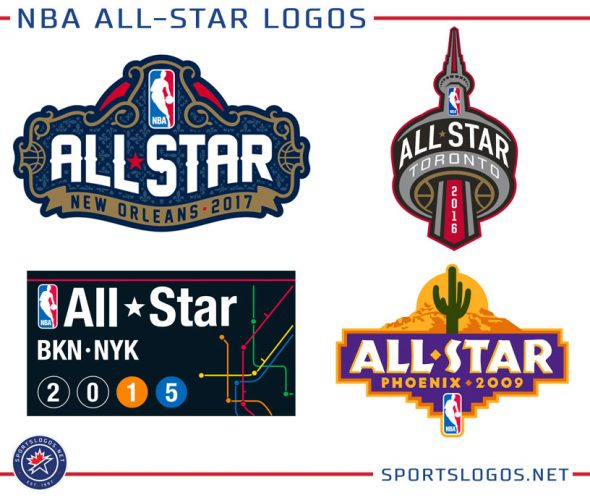 NBA All-Star logos previously were designed to match the local look of the  host city 464542d96
