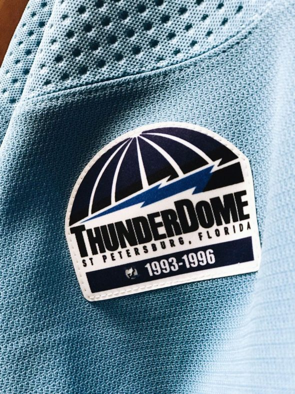 hot sales e7972 10afd Lightning to Wear Tampa Bay Rays Uniforms Tonight | Chris ...