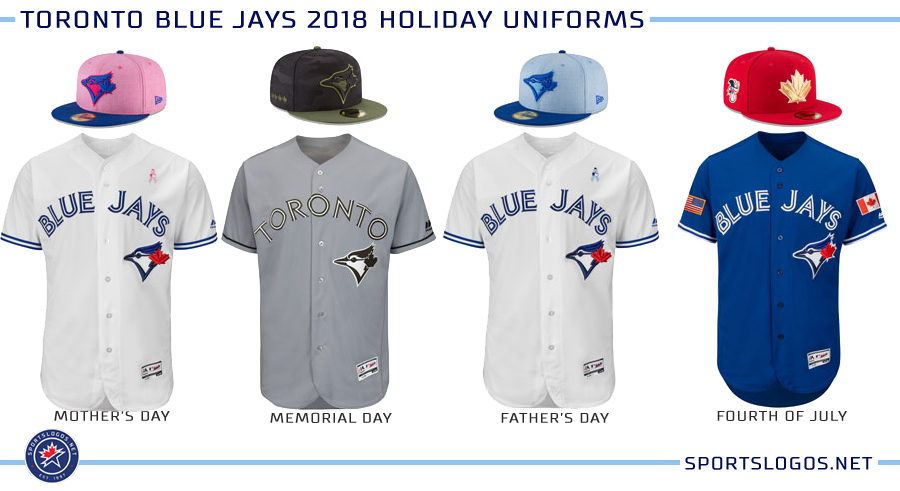 detailed look b0a52 c911e Toronto Blue Jays 2018 Holiday Uniforms | Chris Creamer's ...