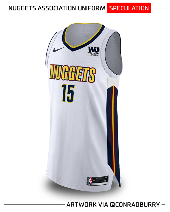 54b00c38ca7 So a shift from a Memphis-style colour scheme to Cleveland s for the Nuggets   We ll have to wait a few more months to find out for sure