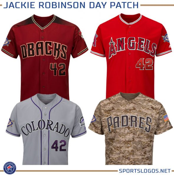 All teams will have the patch on their right sleeve with the exception of  the Los Angeles Angels who will have the Jackie Robinson patch on their  left. a59387e1d96b