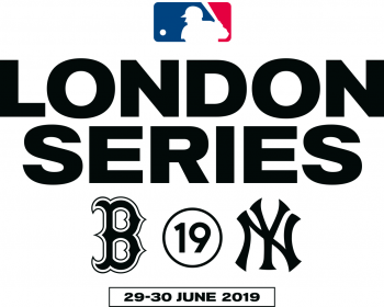 Logo released for the 2019 MLB London Series, between Boston and New York in June 2019