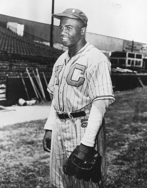 Jackie Robinson with the Kansas City Monarchs