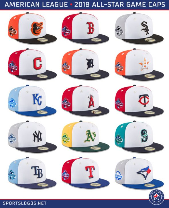 4aabb9f746e Here s a look at all the designs from the National League and American  League ...