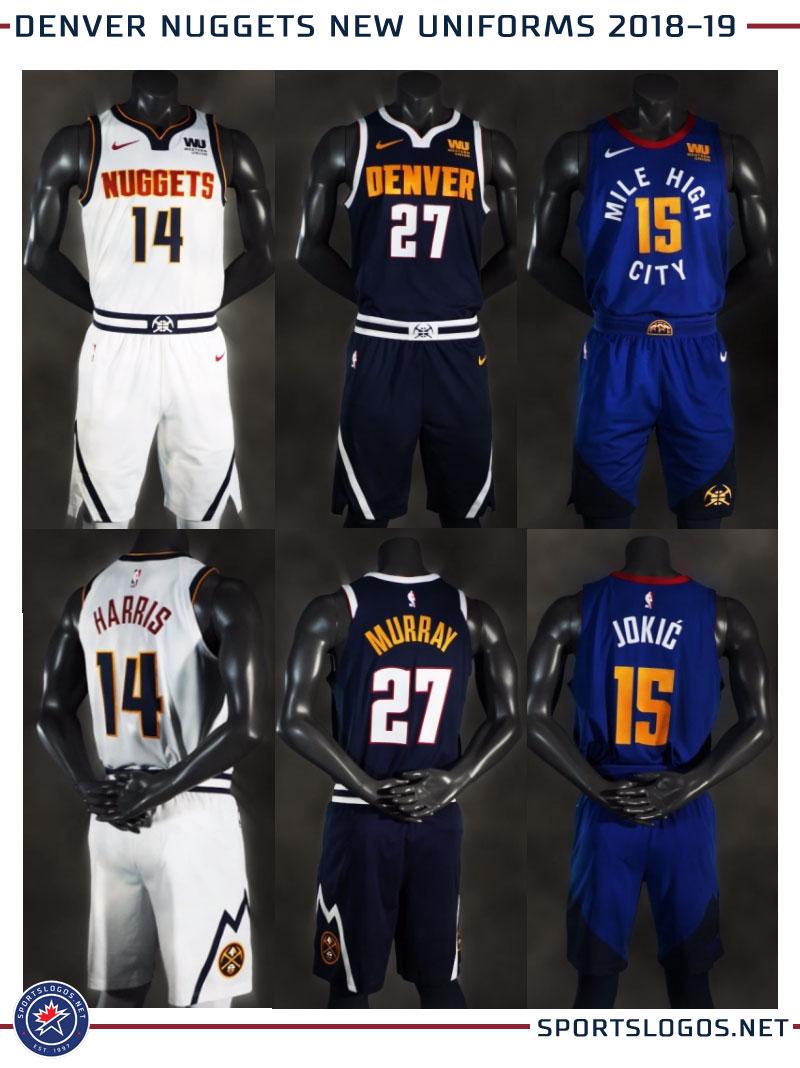 4b714dc79 NBA Denver Nuggets New Uniforms 2018-19